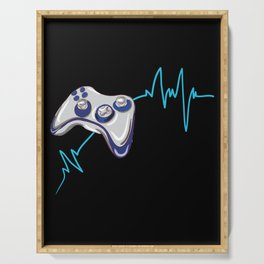 Gamer Heartbeat Serving Tray
