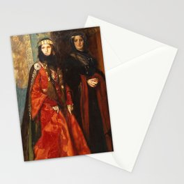 King Lear: Goneril and Regan, Act I, Scene I by Edwin Austin Abbey Stationery Cards