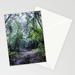 Misty Trail in the Rainforest of the Chocoyero-El Brujo Nature Reserve in Nicaragua Stationery Cards