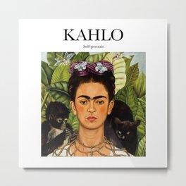 Kahlo - Self-portrait Metal Print