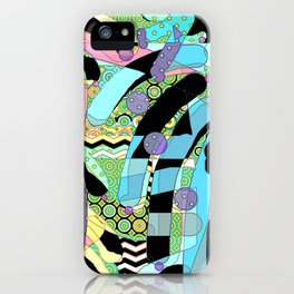 WATERCOLOR HODGE PODGE FIGURES IN LIMBO Design Illustration Pattern Print iPhone Case