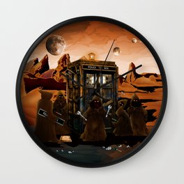 The jawas find sparepart from tardis iPhone 4 4s 5 5c 6, pillow case, mugs and tshirt Wall Clock