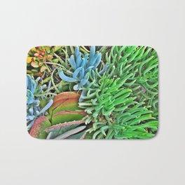Neon Succulents Bath Mat