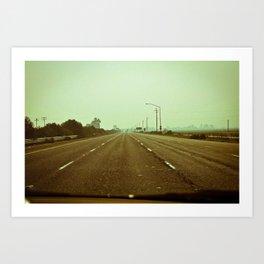 Cracked Highway - California Art Print