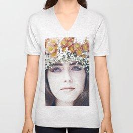 Face flower Unisex V-Neck
