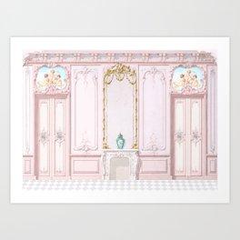 French Apartment Diorama Art Print