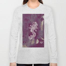 Gothic Cross: purple Long Sleeve T-shirt