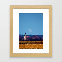 Concept landscape : View to a chapel Framed Art Print