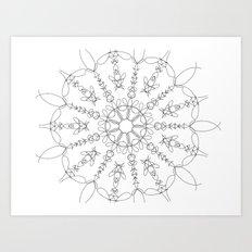 the flower we made Art Print