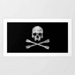 Jolly Roger Banner Art Print