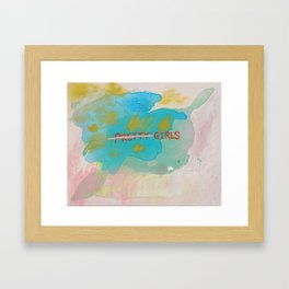 Girls: Handle With Care Framed Art Print