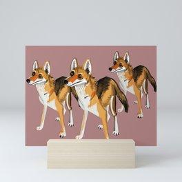 Senegalese Wolf in Pink Mini Art Print