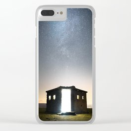Pillbox Skies Clear iPhone Case