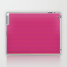 Even Horizontal Stripes, Red and Purple, XS Laptop & iPad Skin