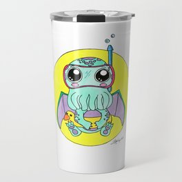 Just keep swimming, Cute-thulu! Travel Mug