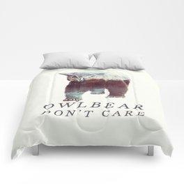 Owlbear (Typography) Comforters