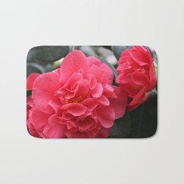 Pink Camellias Bath Mat