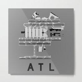 ATL Airport Diagram Metal Print