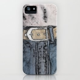 Blue jeans iPhone Case