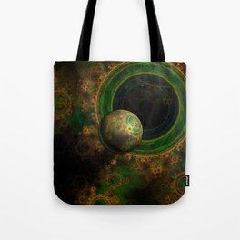 TikTok's Four-Dimensional Steampunk Time Contraption Tote Bag