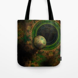 TikTok's Four-Dimensional Steampunk Time Contraption Tote Bag