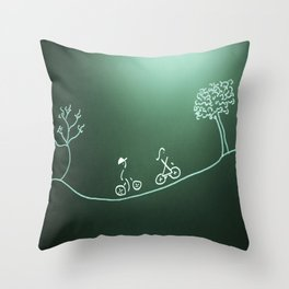 bike ride for Dale and Diane Throw Pillow