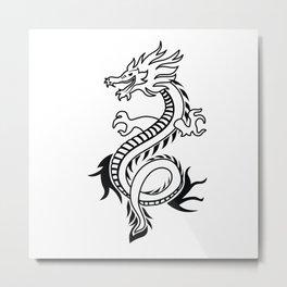 Cartoon Dragon Metal Print