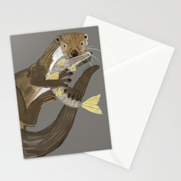 Old World otters Stationery Cards