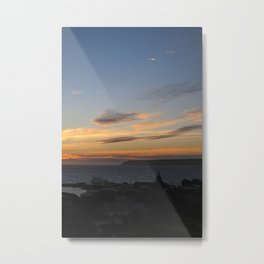 Sunset over Mana Island New Zealand Metal Print