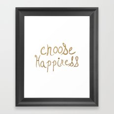 Choose Happiness Gold Edition Framed Art Print