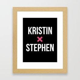 KRISTIN + STEPHEN Framed Art Print