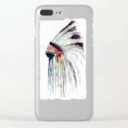 Indian Headress Clear iPhone Case
