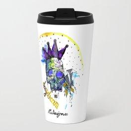Day Dreamer Skull - Colour Travel Mug