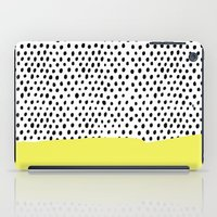 polka dot iPad Cases featuring Polka dot rain dip by Maiko Nagao