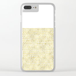 Riverside Gold Clear iPhone Case