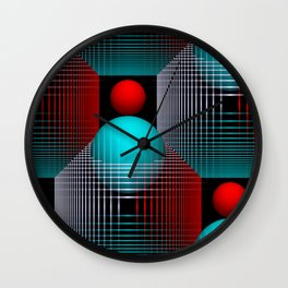 3D - abstraction -80- Wall Clock
