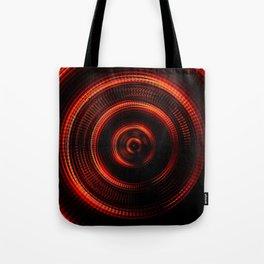 Red Shockwave Tote Bag