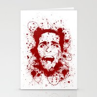 scary Stationery Cards featuring American Psycho by David