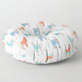 Llamas with Jumpers Floor Pillow