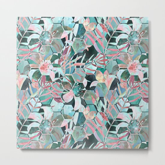 Floral, geometric abstraction Metal Print