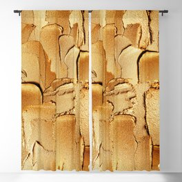Gold Acryl Thick Metal Stripes Blackout Curtain
