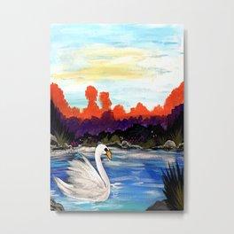Swan Life Metal Print