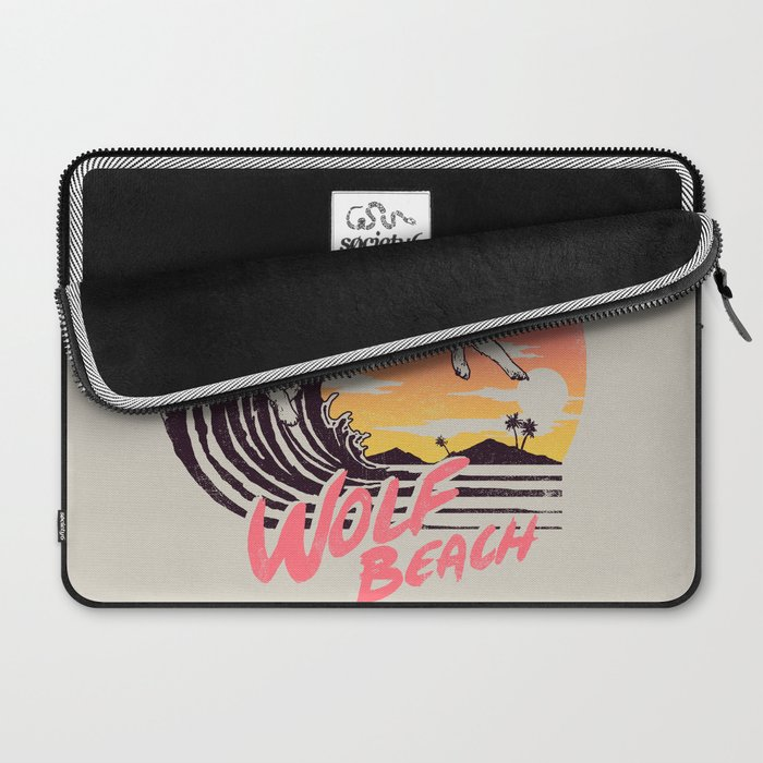 Wolf Beach Laptop Sleeve