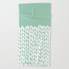 Half Knit Mint Beach Towel