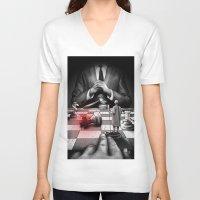 medicine V-neck T-shirts featuring Medicine+Politics by Cleev