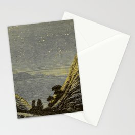 Astronomy for amateurs - 1904 Star Night Sky Landscape Stationery Cards
