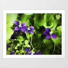 Wild Violets Of Spring Time Art Print