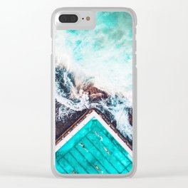 Sydney Bondi Icebergs Clear iPhone Case