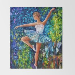 Dance In The Rain Of Color Throw Blanket