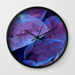 Hosta Purple Pantone 2018 Wall Clock